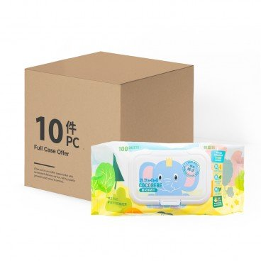 COCOBEBE - Elephant Baby Wet Wipes With Cap Case Offer - 100'SX10
