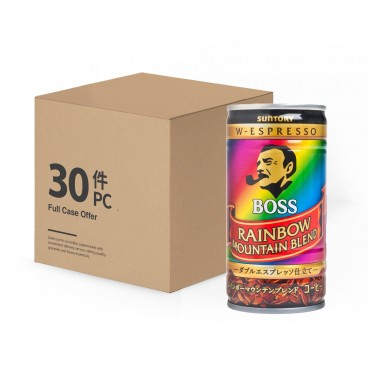 SUNTORY - Premium Boss Rainbow Mountain Blend Full Case - 185MLX30