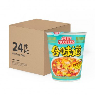NISSIN - Cup Noodle spicy Seafood - 75GX24