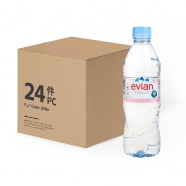 EVIAN - Natural Mineral Water - 500MLX24
