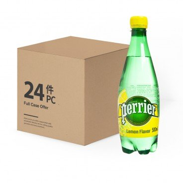 PERRIER Sparkling Pet Mineral Water Twist lemon Pet 500MLX24