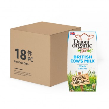 DAIONI ORGANIC Organic Whole Milk 200MLX18