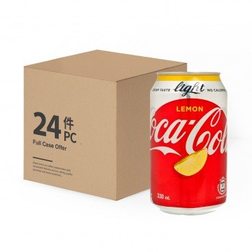 COCA-COLA - Lemon Coke Light case - 330MLX24