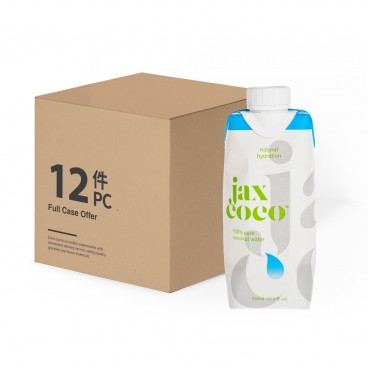 JAX COCO 100 Pure Coconut Water 330MLX12