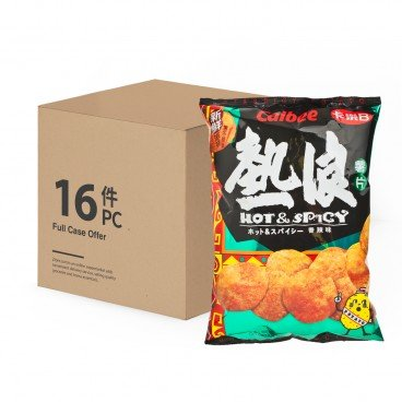 CALBEE Potato Chips hot Spicy Flavour 105GX16