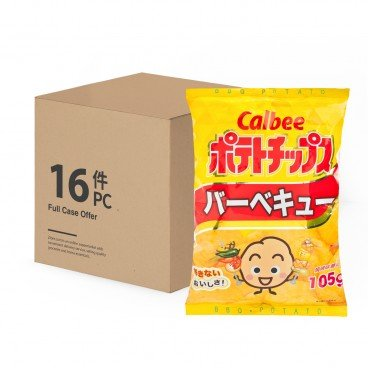 CALBEE Potato Chips bbq Flavour 105GX16