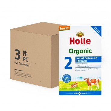 HOLLE - Organic Infant Follow on Formula 2 - 600GX3