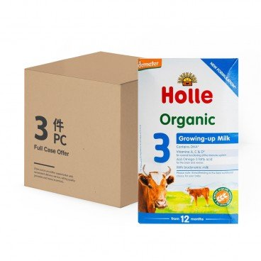 HOLLE - Organic Growing Up Formula 3 - 600GX4