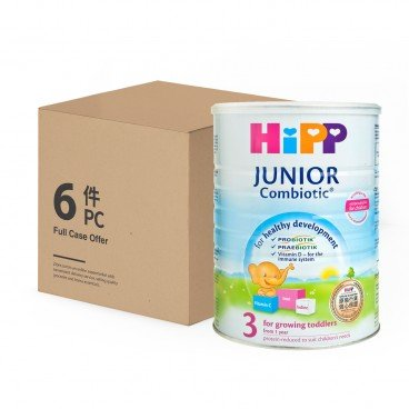 HIPP - 3 Junior Combiotic Growing up Milk - 800GX6