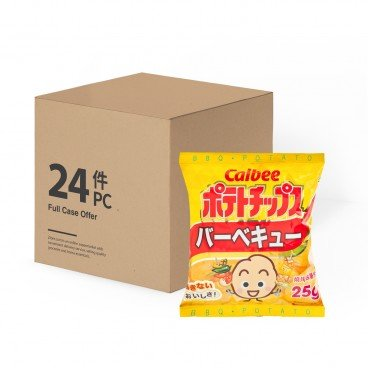 CALBEE - Potato Chips bbq Flavour - 25GX24