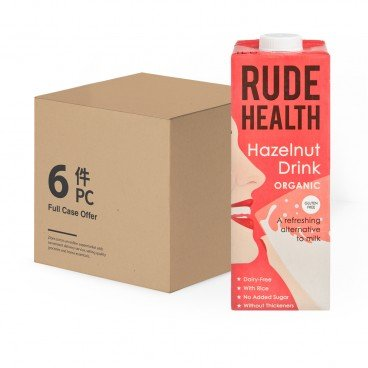 RUDE HEALTH Organic Hazelnut Drink 1LX6