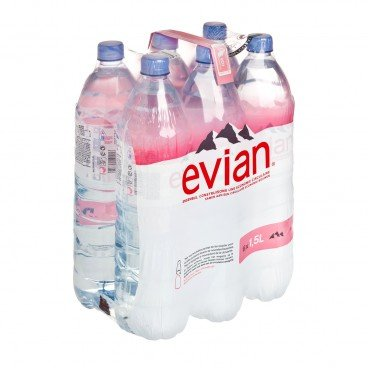 EVIAN - Natural Mineral Water - 1.5LX6