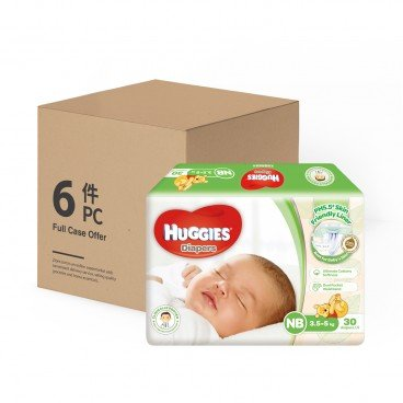 HUGGIES好奇 Natural Skincare Diaper Newborn 30'SX6