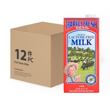 HARVEY FRESH Lactose Free Milk 1LX12