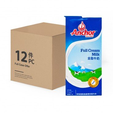 ANCHOR Full Cream Uht Milk 1LX12