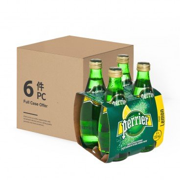 PERRIER Sparkling Mineral Water Twist Lemon 330MLX4X6