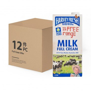 HARVEY FRESH Full Cream Milk 1LX12
