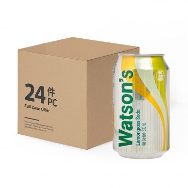 WATSONS Lemongrass Flavoured Soda Water case Offer 330MLX24