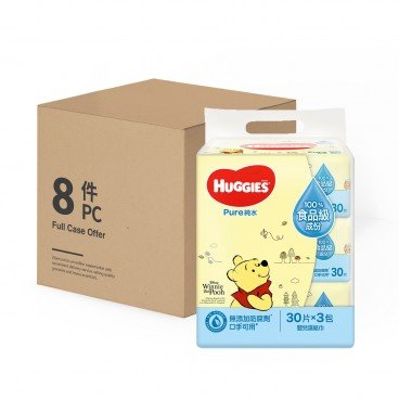 HUGGIES - Pure Water Baby Wipes case Offer - 30'SX3X8