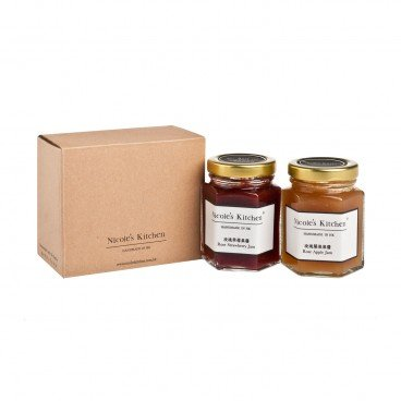 NICOLE'S KITCHEN Gift Box rose Strwberry Jam Rose Apple Jam 125G+125G