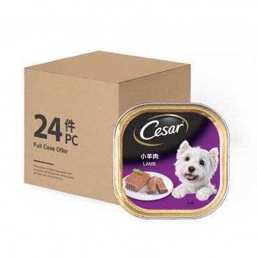 CESAR Dog Can Food lamb 100GX24