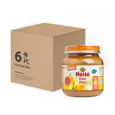 HOLLE - Organic Pear Pure case Offer - 125GX6