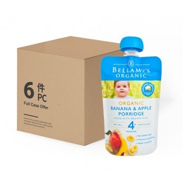 BELLAMY'S ORGANIC Organic Banana Apple Porridge case Offer 120GX6