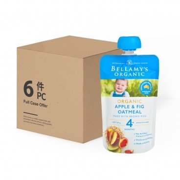 BELLAMY'S ORGANIC Organic Apple  Fig Oatmeal case Offer 120GX6