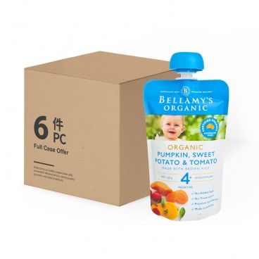 BELLAMY'S ORGANIC - Organic Pumpkin Tomato Risotto case Offer - 120GX6