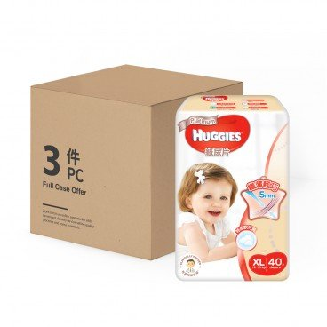 HUGGIES - T 5 Platinum Diaper Xl case Offer - 40'SX3