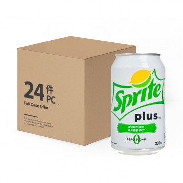 SPRITE - Sprite Plus lemon lime Flavoured Soda - 330MLX24