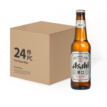 ASAHI Beer Bottle Full Case 330MLX24
