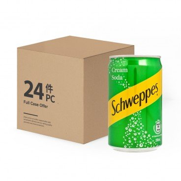 SCHWEPPES Cream Soda Mini Can Case 200MLX24