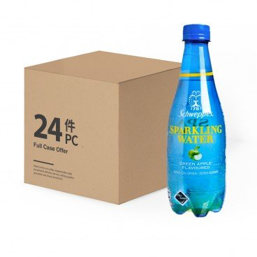 SCHWEPPES - Sparkling Water green Apple case - 410MLX24