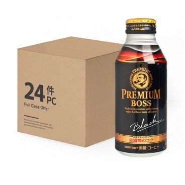 SUNTORY - Premium Boss Sugar free Black Coffee - 390GX24