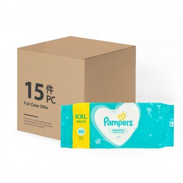 PAMPERS幫寶適(PARALLEL IMPORT) - Wet Wipes Sensitive Fragrance free case Offer - 15X80'S