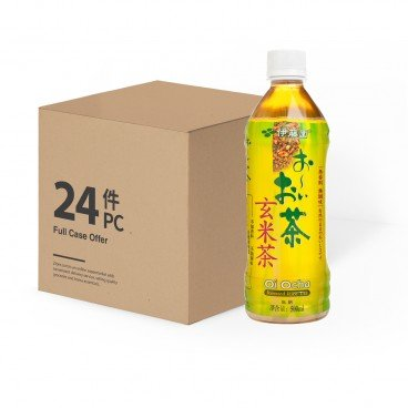 ITOEN - Green Tea With Roasted Rice Tea case Offer - 500MLX24