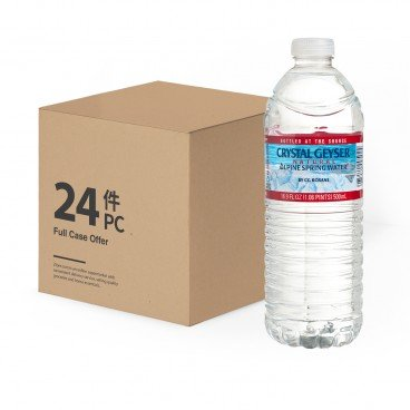 CRYSTAL GEYSER - Natural Alpine Spring Water - 500MLX24