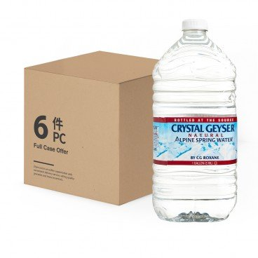 CRYSTAL GEYSER - Natural Alpine Spring Water - 3.78LX6