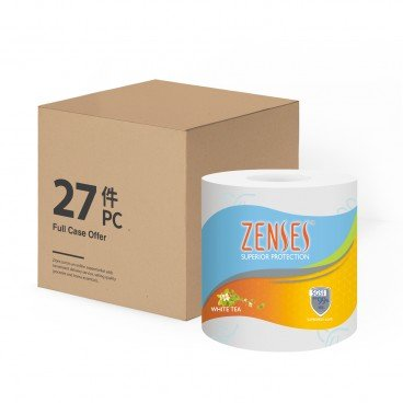 ZENSES - Roll Tissue white Tea Full Case Single Roll - 27'S