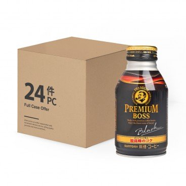 SUNTORY - Premium Boss Sugar free Black Coffee case Offer - 285MLX24