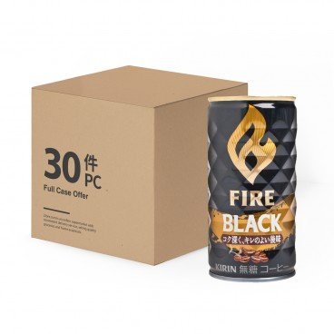 KIRIN - Fire Sugar free Roasted Black Coffee case Offer - 185MLX30