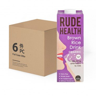 RUDE HEALTH - Organic Brown Rice Drink Case - 1LX6