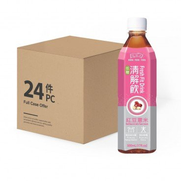 HUNG FOOK TONG - Fresh Fit Drink red Bean Jobs Tears case - 500MLX24
