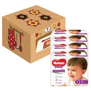 HUGGIES - Diamondpant L playbox - 108'S