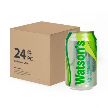WATSONS - Lime Flavoured Soda Water case - 330MLX24