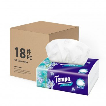 TEMPO得寶 - 4 ply Softpack Facial Tissue Bluebell - 18'S
