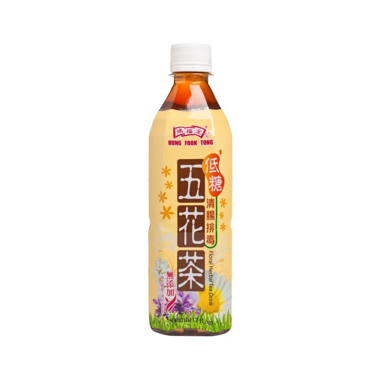 HUNG FOOK TONG - MIX FLOWER TEA DRINK-LOW SUGAR - 500ML
