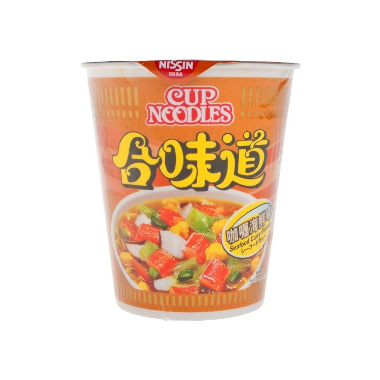NISSIN - CUP NOODLE-CURRY SEAFOOD - 75G