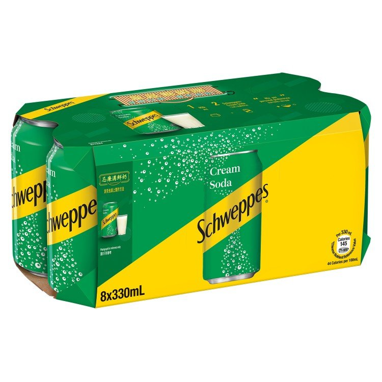 SCHWEPPES - CREAM SODA - 330MLX8